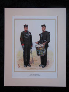 Gurkhas - Bugle Major & Musician  Mounted print (ref PR412)
