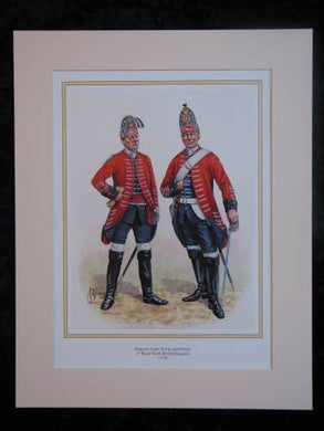 2nd Royal North British Dragoons  Mounted print (ref PR413)