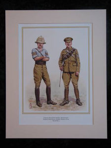 Royal Field & Royal Horse Artillery WW1  Mounted print (ref PR414)