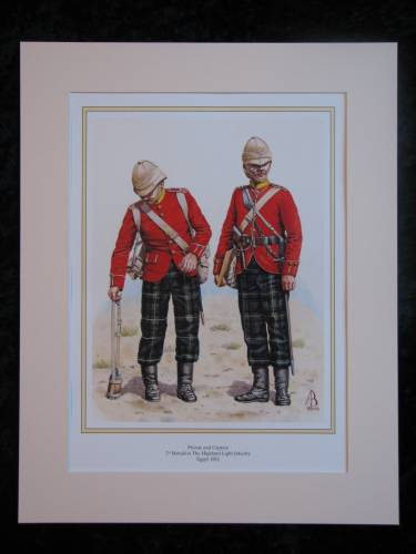The Highland Light Infantry 1882  Mounted print (ref PR415)