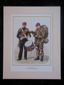 1st Battalion The Parachute Regiment  Mounted print (ref PR416)