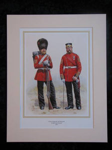 Coldstream Guards 1856  Mounted print (ref PR417)