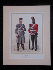 Welsh Regiment of Foot 41st. Crimea  Mounted print (ref PR420)