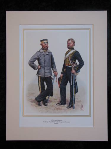 Kings Royal Irish Light Dragoons, Crimea  Mounted print (ref PR421)