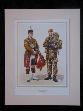 Scots Guards  Mounted print (ref PR422)