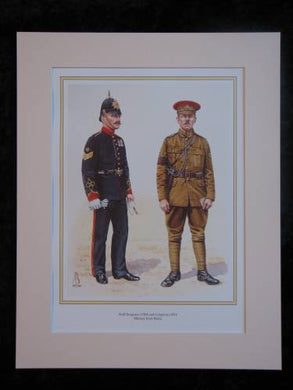 Military Foot Police 1904 & 1914  Mounted print (ref PR423)