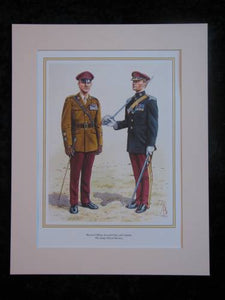 The King`s Royal Hussars  Mounted print (ref PR427)