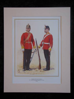 North Hampshire (37th) Regiment of Foot, c1869  Mounted print (ref PR428)