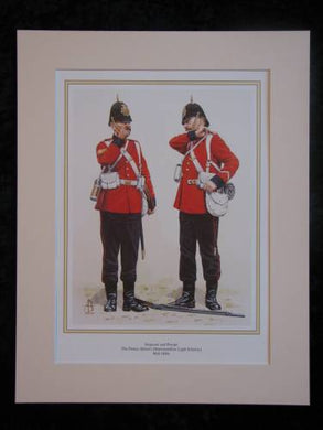 The Prince Albert`s (Somersetshire Light Infantry) Mid-1880s  Mounted print (ref PR430)