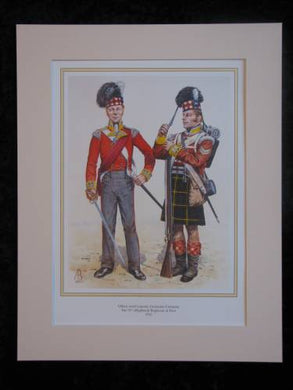 Highland (92nd) Regiment of Foot  Mounted print (ref PR432)