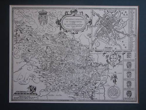 West Riding of Yorkshire vintage plan