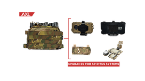 AXL Advanced Upgrades for Spiritus Systems Micro Fight Chest Rig with Kagwerks EUD Phone Case, Juggernaut EUD Phone Case, S&S Precision Nav Board, and Crye Precision Horizontal Pouch in Multicam