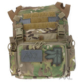 AXL Adaptive Vest Placard AVP for the Crye Precision JPC 1.0 with Haley Strategic Partners D3CRM Micro Chest Rig