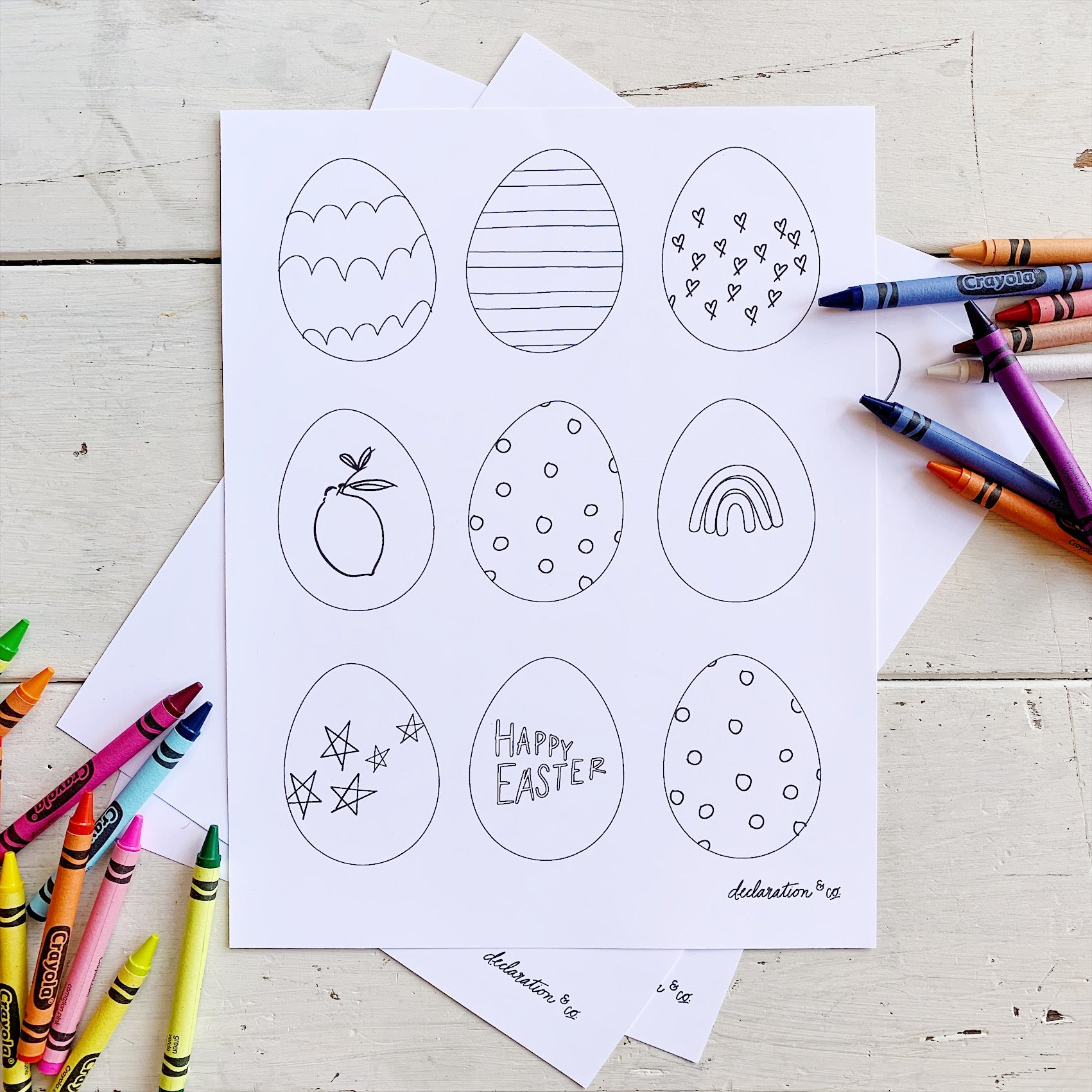 Free Easter Coloring Sheet Download