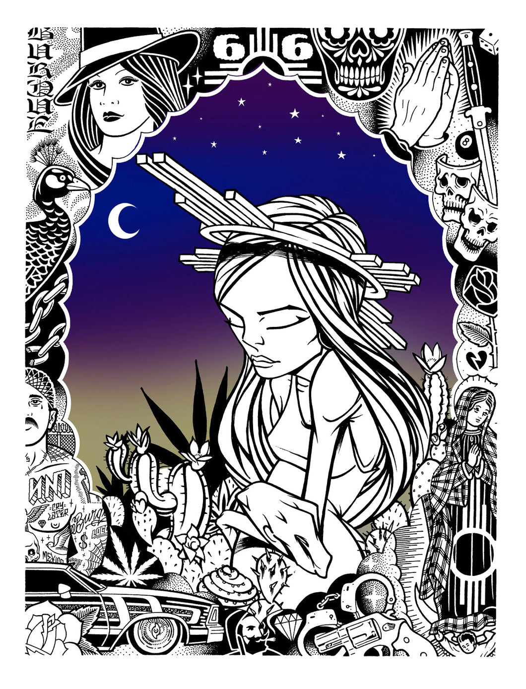 Kactus Kids Nighttime Collab (Print) - Sam Flores & Mike Giant