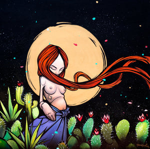Girl In The Wind - Limited Edition Fine Art Print - Sam Flores