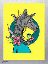 Coyote Kid - 7 Color Limited Edition Screenprint - Sam Flores