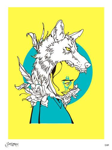 Coyote Kid - 3 Color Limited Edition Screenprint - Sam Flores