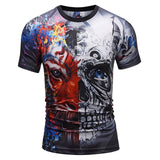 Mr.1991INC New Fashion T-shirt Men/Women 3d T-shirts Print Gear Skull Tiger T shirts Brand Tops Cool Summer T shirts DK553 - ElysiumFields