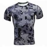 New Fitness T Shirts Men Compression Shirts Bodybuilding Camouflage 3d T shirt Men Crossfit GYMS T-Shirts MMA Rashguard TShirt - ElysiumFields