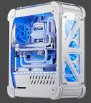 With Tempered glass water cooling Amber Monitor Holder i7 8GB 120GB/1T GX1080 21.5/23.6/27 inch gaming Desktop computer PC - ElysiumFields