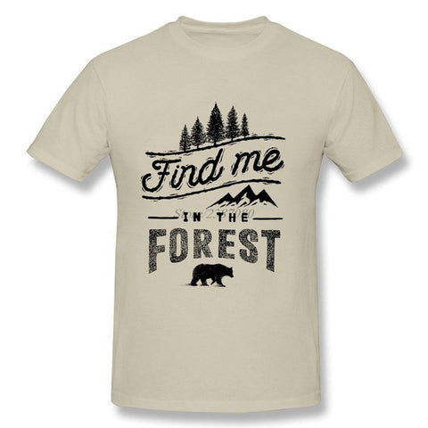2019 New T Shirt Forest Bear T-shirts Car Styling Cotton 3XL Short Sleeve  Funny T Shirts - ElysiumFields