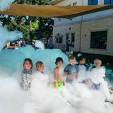 Kids love a foam party at the daycare