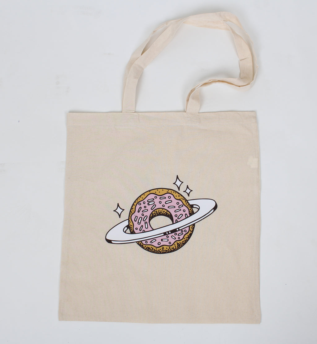 Planet Donut Tote (White)