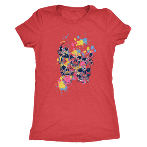 Color Splattered Skulls