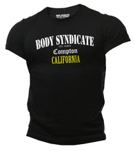 Laden Sie das Bild in den Galerie-Viewer, BODY SYNDICATE - Compton California T-Shirt - Worldwide Syndicate Collection