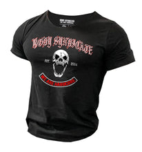 Upload the image to the gallery viewer, BODY SYNDICATE - Screaming Skull - Raw Neck T-Shirt