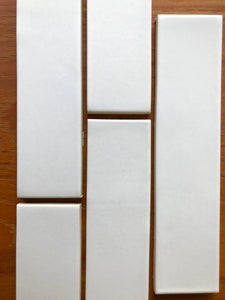 "Heath Ceramics Stone White Tile  2""x8"""