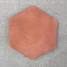 "Load image into Gallery viewer, ARTO Tile, Hexagon Red Terra Cotta, 8""x8"". 44 sq ft."