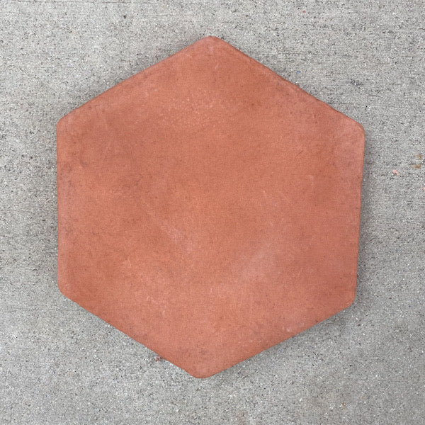 "ARTO Tile, Hexagon Red Terra Cotta, 8""x8"""