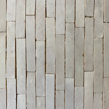 Load image into Gallery viewer, Linear 1 Mosaic Moroccan Tile by Mosaic House, in White, 62 sq ft.