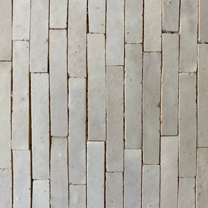 Linear 1 Mosaic Moroccan Tile by Mosaic House, in White, 62 sq ft.