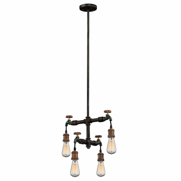Elk Lighting | Jonas Four Light Weathered Multitone Chandelier