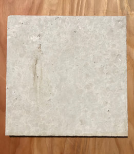"Concrete Collaborative Terrazzo Tile - Blonde and Black Chip. 12""x12"""