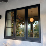 "Marvin Windows, 23.25""x33.5"" Exterior extruded aluminum in Ebony, Interior White painted pine."