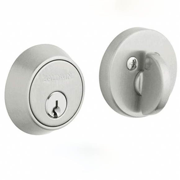 Baldwin | Single Cylinder Contemporary Deadbolt in Satin Chrome