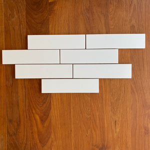 "Artistic Tile  A Train White 2 1/2""x10"" Matte Ceramic Field Tile, Approx 34 sq ft"
