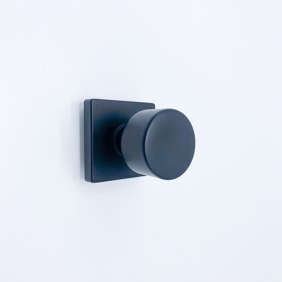 Sure-Loc Hardware | Ridgecrest Modern Bergen-Square Flat Black Passage Door Knob