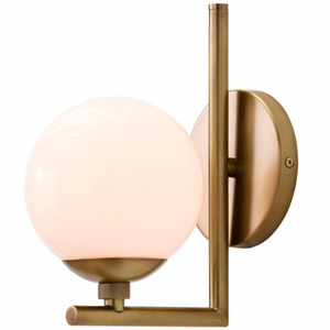 "Arteriors Home | Quimby 10"" High Antique Brass Wall Sconce"
