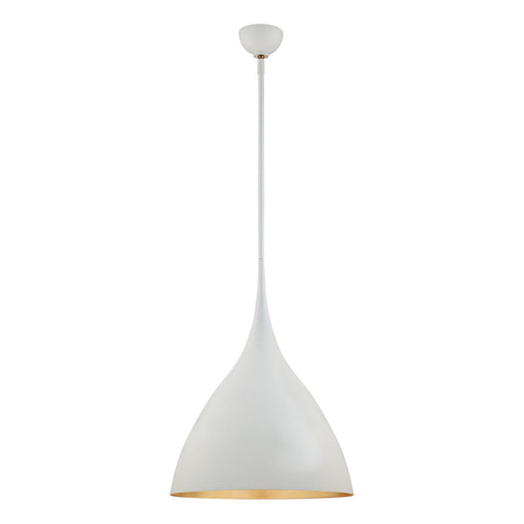 Visual Comfort & Co. | AERIN Agnes 1 Light, 18 Inch Plaster White Pendant Ceiling Light with Gild Interior, Medium