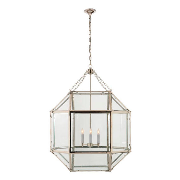 Visual Comfort & Co. | Suzanne Kasler Morris 3 Light, 23 Inch Polished Nickel Foyer Pendant Ceiling Light
