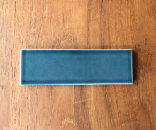 "Load image into Gallery viewer, Heath Ceramics  Heron Blue 2"" x 6"" Tile, approx 10 sq. ft."