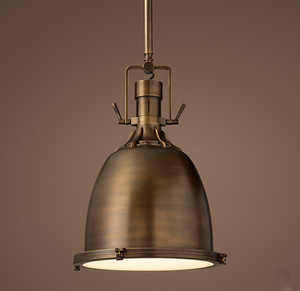 "Restoration Hardware | Benson Pendant 13"" in Antiqued Brass"