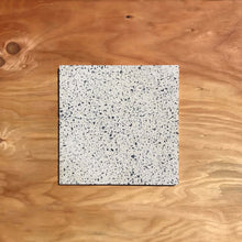 "Load image into Gallery viewer, Concrete Collaborative Terrazzo Tile - Blonde and Black Chip. 12""x12"""