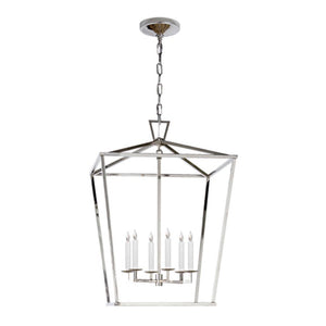 Visual Comfort & Co. E.F. Chapman Collection, Darlana Large Lantern in Polished Nickel