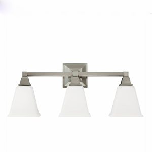Sea Gull Lighting | Denhelm Collection Wall Light In Chrome Finish with White Glass